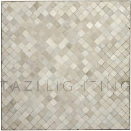 Square Bistro Table in White Mosaic Tile