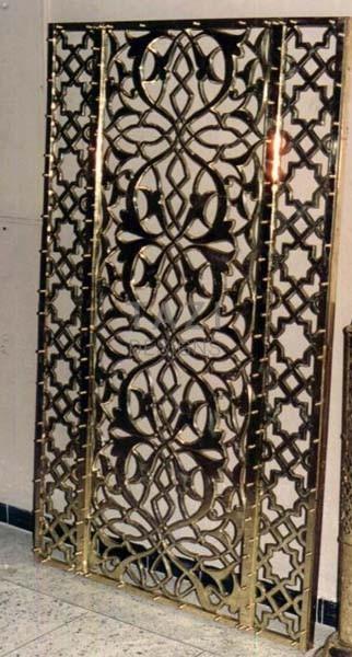 Custom Brass Grill Door Tazi Designs
