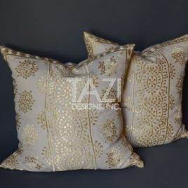 Moroccan Pillow – 26″ Gold