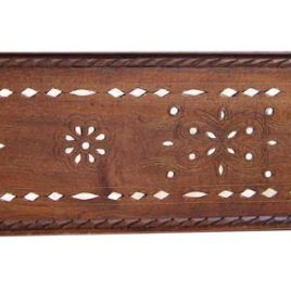 Bone Inlay Moroccan Wood Panel