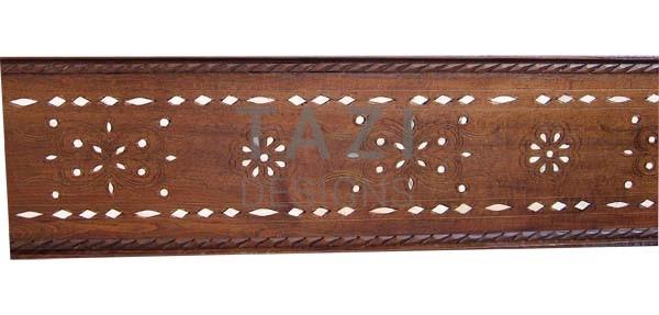 Bone Inlay Moroccan Wood Panel