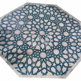 Octagonal Moroccan Mosaic Table in Moorish Design 36b