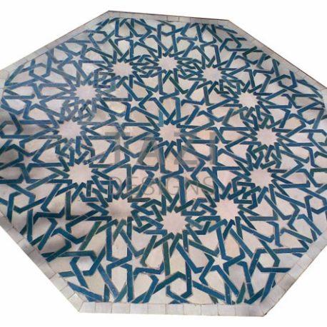 Octagonal Moroccan Mosaic Table in Moorish Design 36b