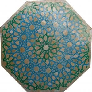 Octagon Mosaic Table – Turquoise