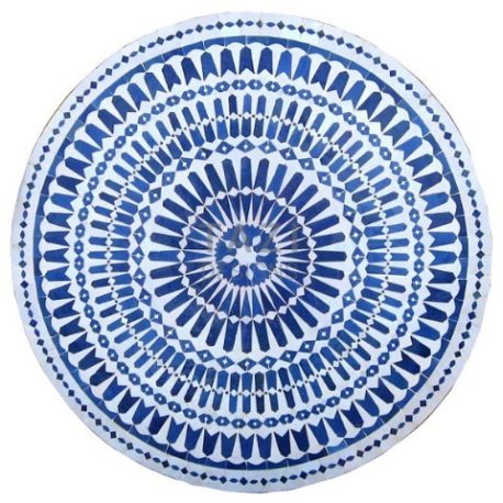 White & Blue Mosaic table 48