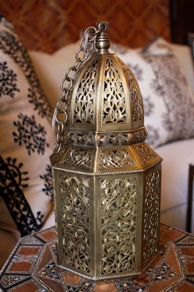 Moroccan Lantern – High End Brass Pendant