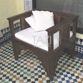 Moroccan Furniture – Wood Chair