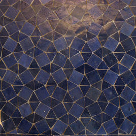 Moroccan Mosaic Pattern Blue Triangles