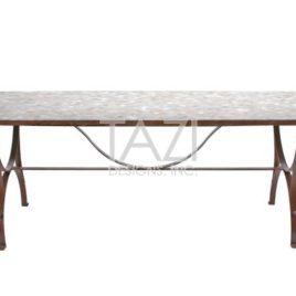 90″x32″ Rectangular Mosaic Table – Provence style