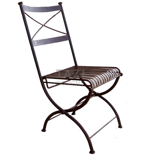 Iron Folding Chair Bistro