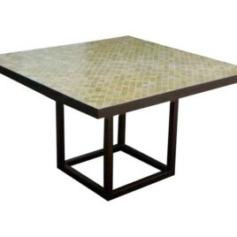 Square Mosaic Table – Olive Beige