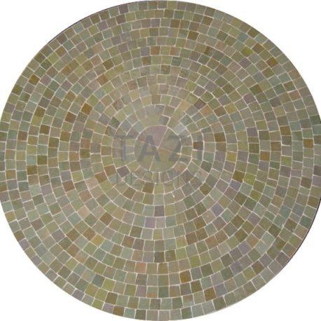 Mosaic Table in Olive Beige Tile 30″ Diameter