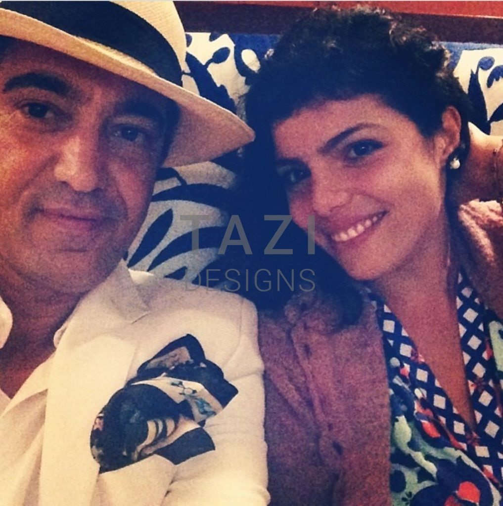 Tazi with his wife