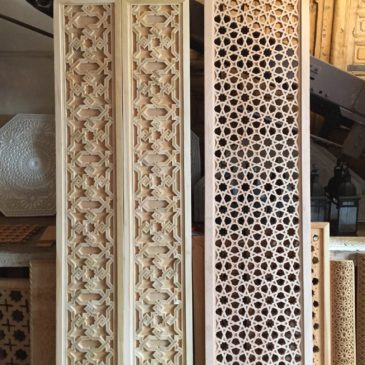 Moroccan Wood Screens and Carved Door Panels