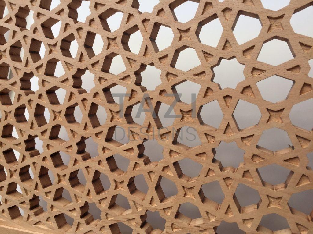 Handcarved Moorish Woodwork Tazi Designs