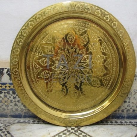 Tazi Designs – Moroccan Brass Tray