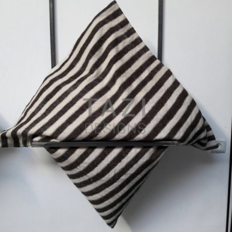 Brown Stripe Wool Cushion by Tazi Designs