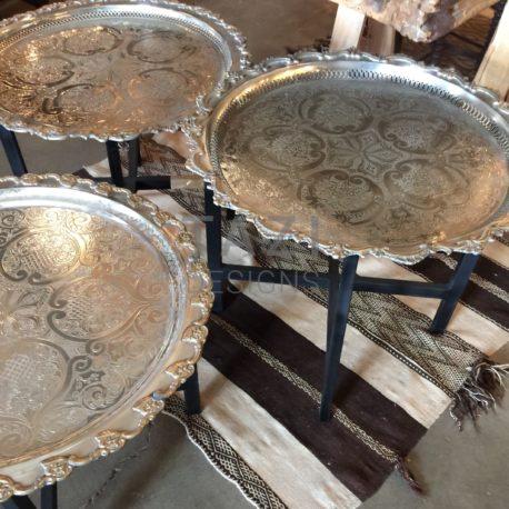 Moroccan Vintage Silver Trays